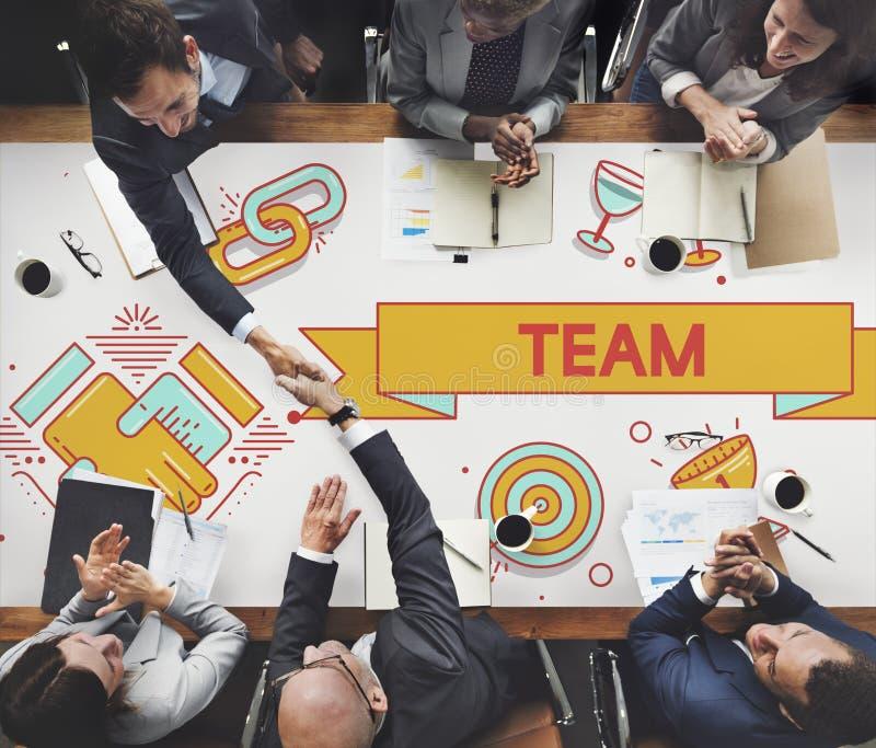 Team Teamwork Partnership Collaboration Concept fotografia stock libera da diritti