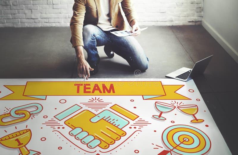 Team Teamwork Partnership Collaboration Concept immagine stock libera da diritti