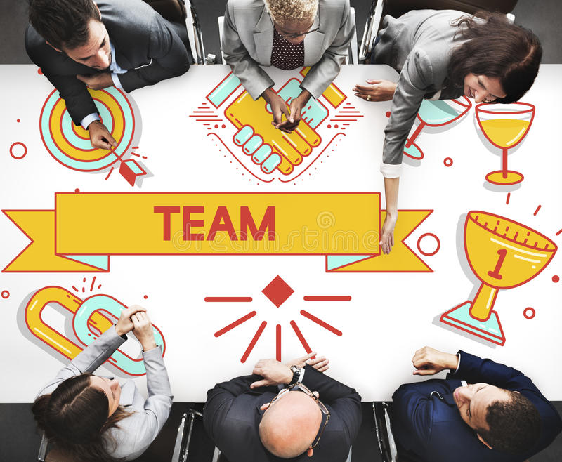 Team Teamwork Partnership Collaboration Concpet stock photo