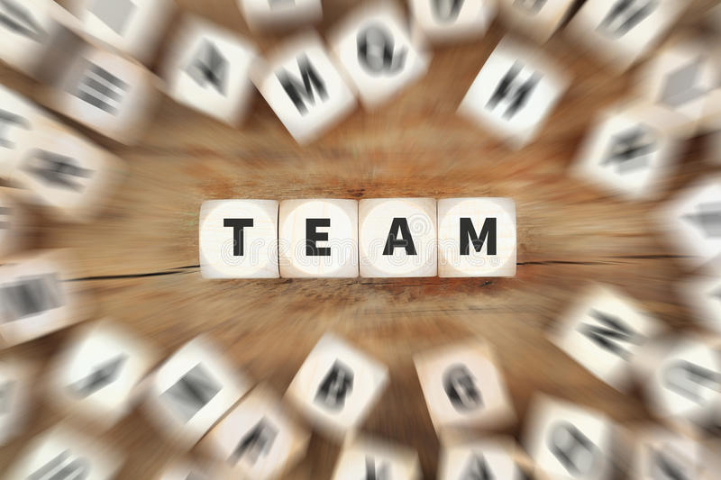 Team teamwork success successful together dice business concept stock photography