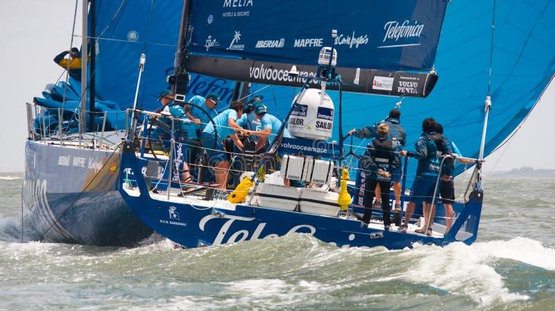 Team Telefonica in Volvo Ocean Race stock photos