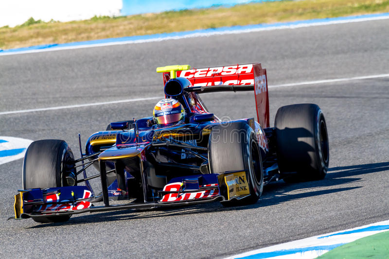 Team Toro Rosso F1, Jean Eric Vergne, 2012 royalty free stock photos
