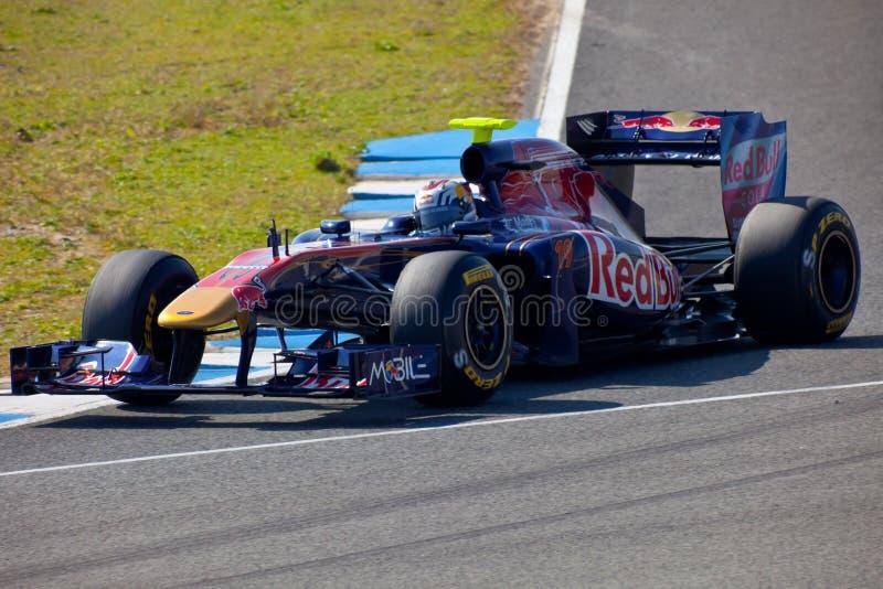 Team Toro Rosso F1, Jaime Alguersuari, 2011 royalty free stock image