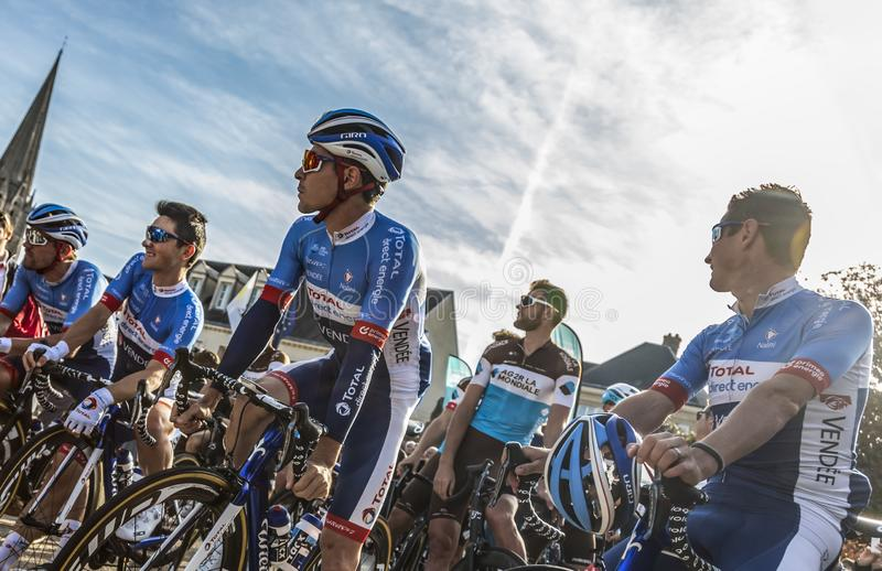Team Total Direct Energie - Paris-Tours 2019 royalty free stock photography