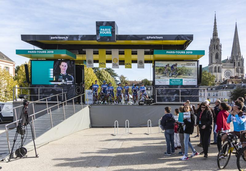 Team Total Direct Energie - Paris-Tours 2019 stock images