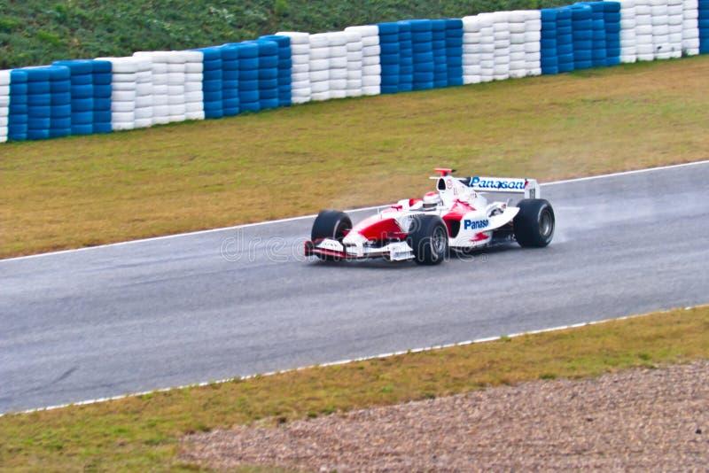 Team Toyota F1, Jarno Trulli , 2004 royalty free stock photo