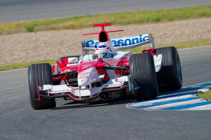 Team Toyota F1, Olivier Panis, 2006 royalty free stock photography