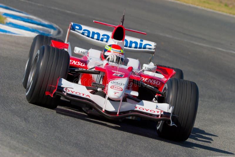 Team Toyota F1, Ricardo Zonta, 2006 royalty free stock images