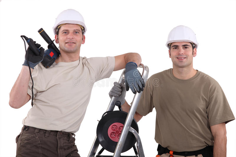 Download Team of tradespeople stock photo. Image of building, heavy - 27190666