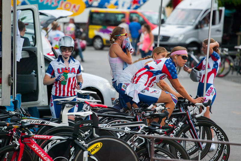 Download Team USA editorial stock photo. Image of women, bicycles - 27355688