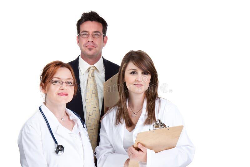 Team van artsen stock foto