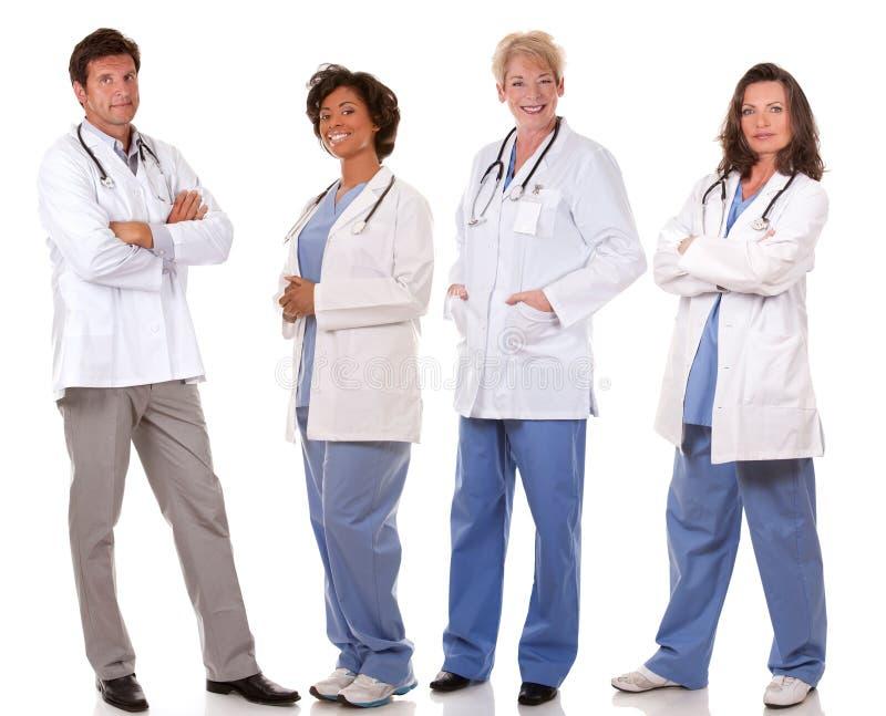 Team van artsen stock foto's