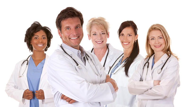Team van artsen stock fotografie