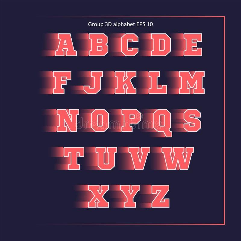 Team van de alfabet het roze sport royalty-vrije stock fotografie