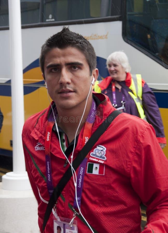 Team van de Voetbal van Ramirez Mexico van Dárvin het Olympische stock fotografie
