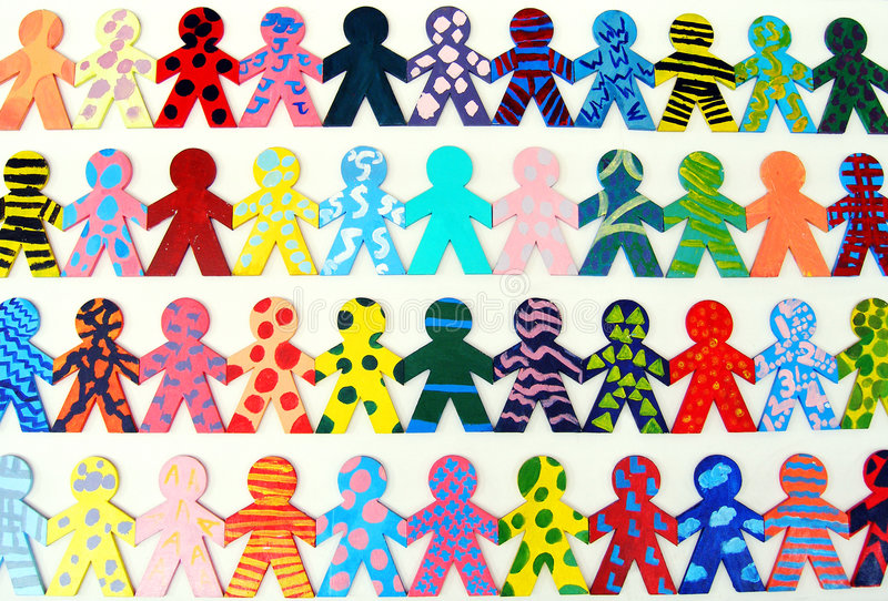 Team van gelukkige mensen stock afbeelding