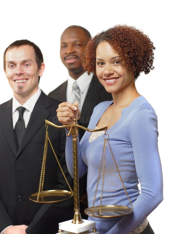 Team van jonge advocaten stock afbeeldingen