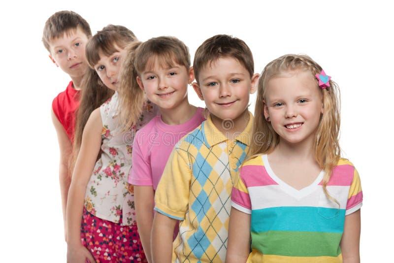 Team van kinderen royalty-vrije stock foto