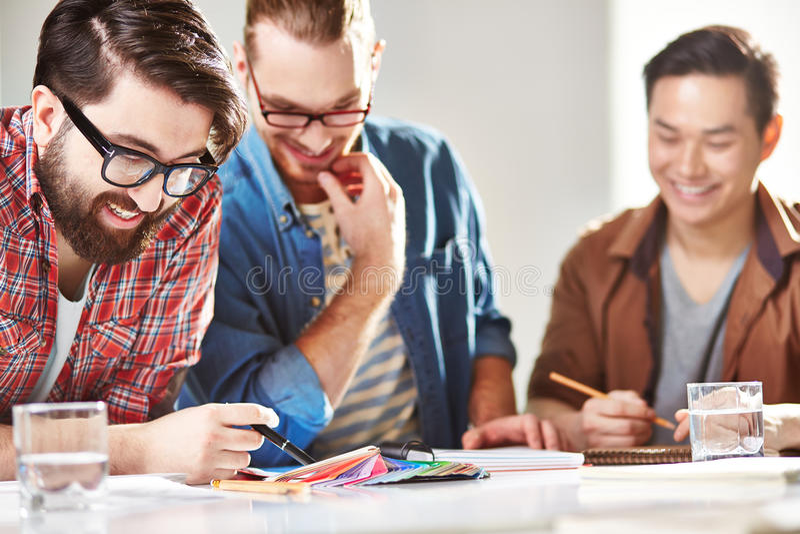 Team van ontwerpers royalty-vrije stock afbeeldingen