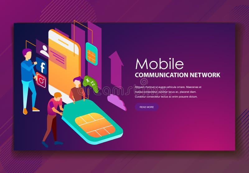 Team van specialisten die aan digitale marketing strategie werken vector illustratie