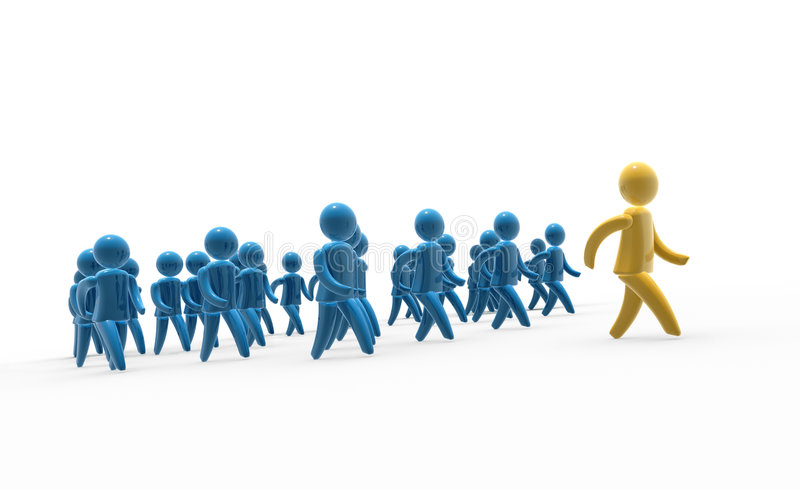 Team walk royalty free stock images