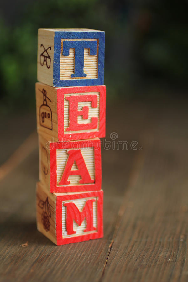 Download Team wood blocks stock image. Image of office, character - 23162421