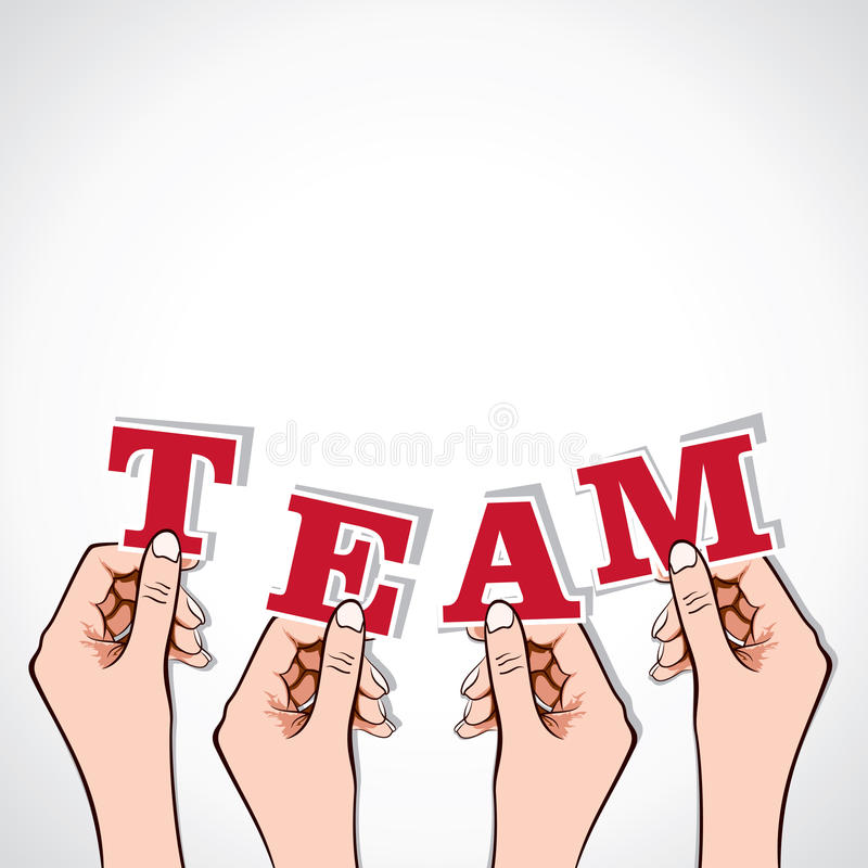 Team Word On Message Bubble Royalty Free Stock Images