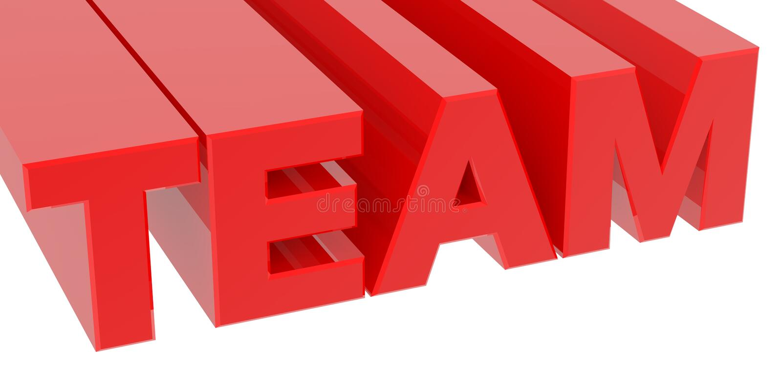 TEAM word on white background 3d rendering ilustracji