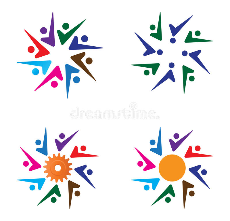 Download Team work stock vector. Illustration of abstract, badge - 19581448