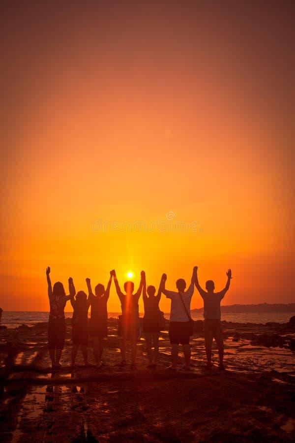 Download Team work stock image. Image of sunset, group, builder - 26156611