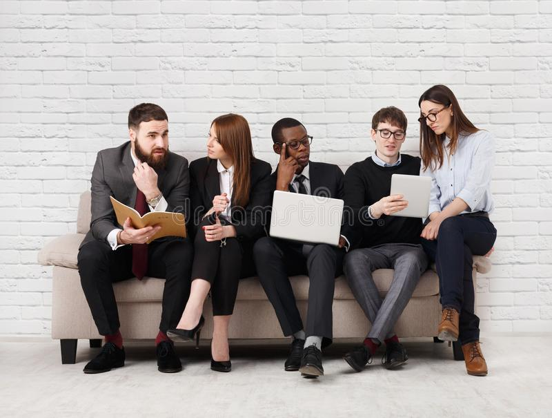 Team work, business colleagues enjoy success stock photography