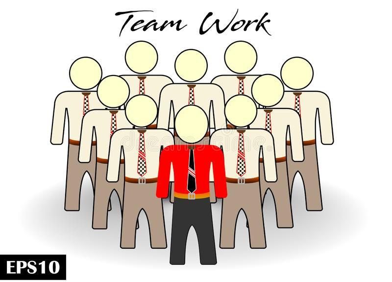 Team work businessman team crowd people icon. Isoilated white background vector illustration