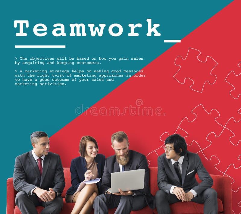 Team Work Collaboration Cooperation Concept fotografia stock