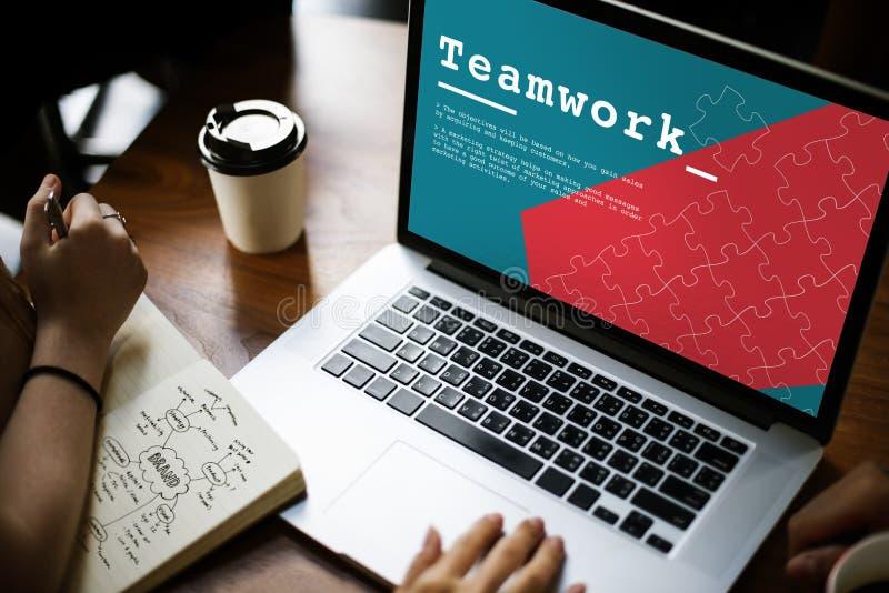 Team Work Collaboration Cooperation Concept immagini stock libere da diritti