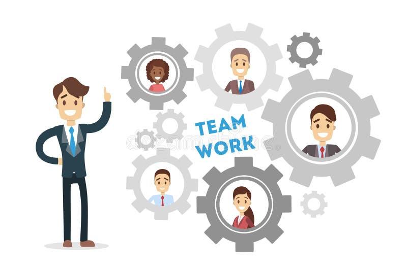 Team work gears. vector illustration