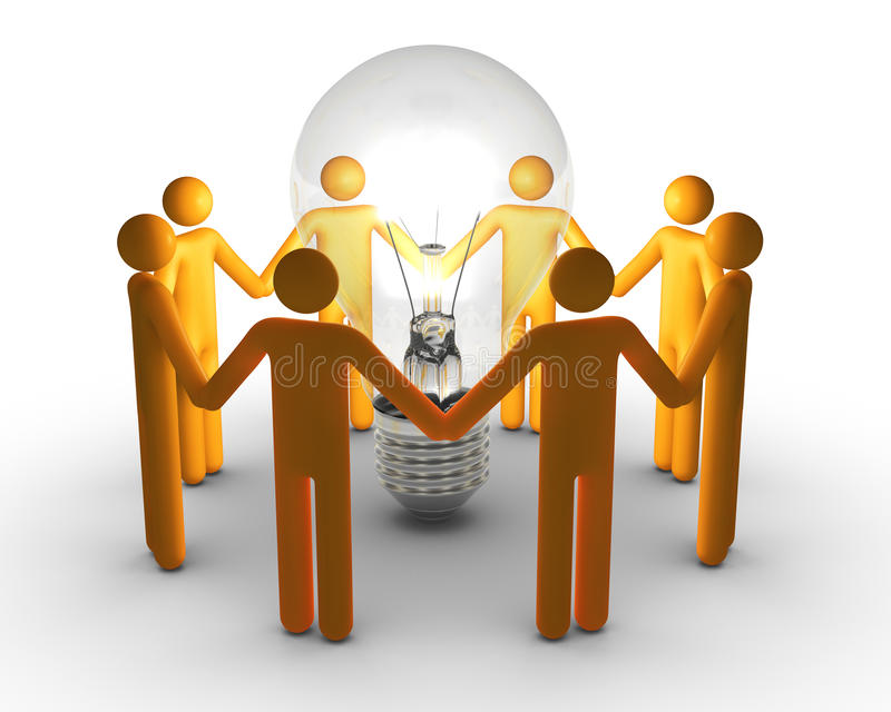 Team Work For Ideas Stock Photography