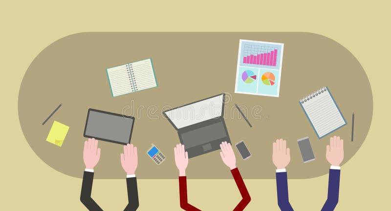 Team Work Information Technology Illustration ilustração do vetor