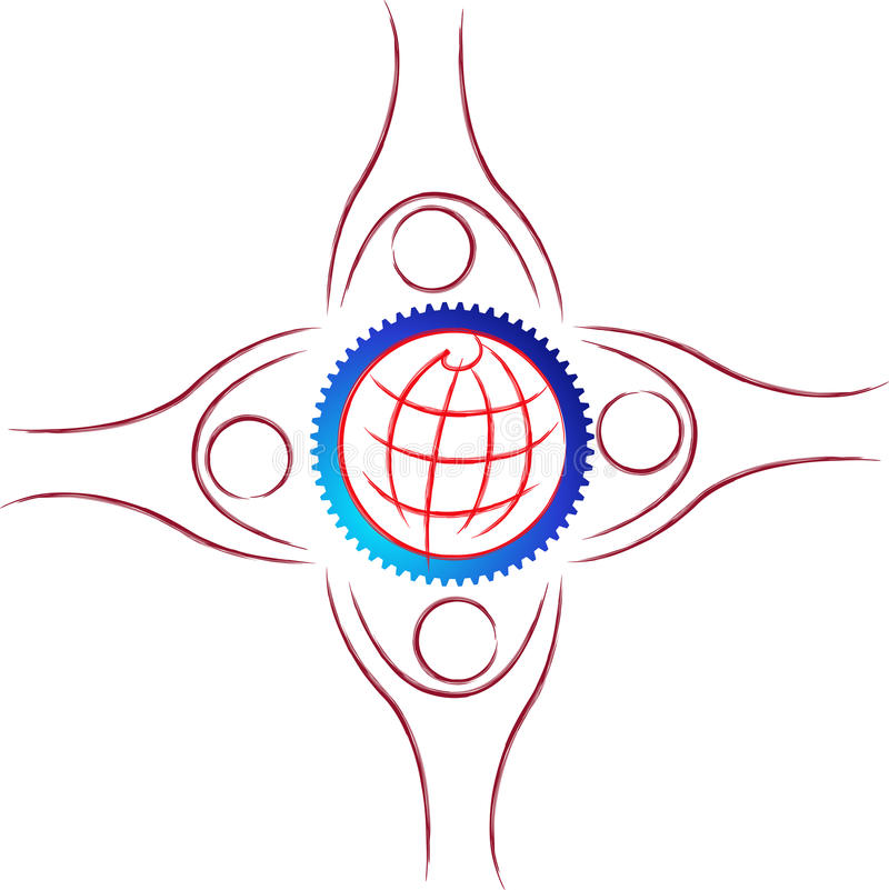 Download Team work logo stock vector. Image of globe, artwork - 19207542