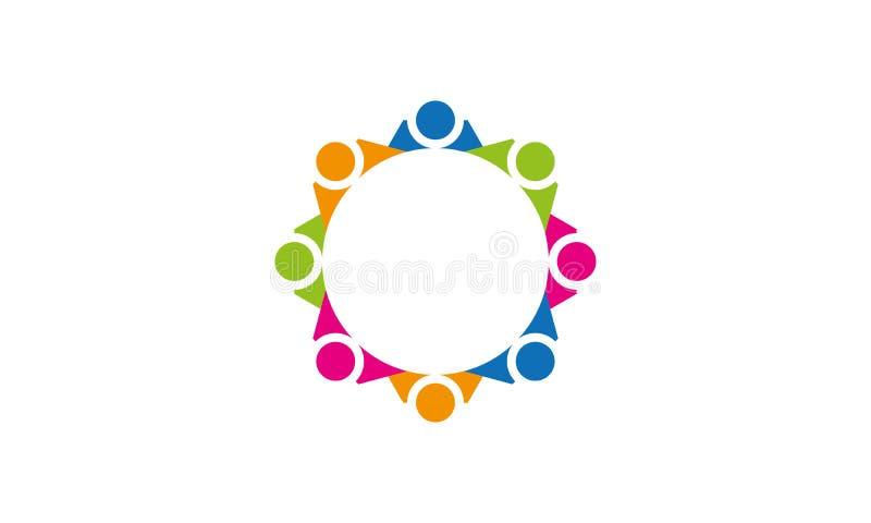 Team Work Logo - negócio circular arredondado Team United Logo do molde de Team Work Union People Logo ilustração stock