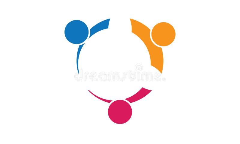 Team Work Logo - neg?cio circular arredondado Team United Logo do molde de Team Work Union People Logo ilustração stock