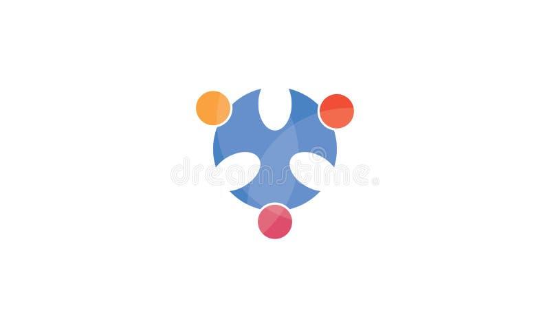 Team Work Logo - negocio circular redondeado Team United Logo de la plantilla de Team Work Union People Logo ilustración del vector