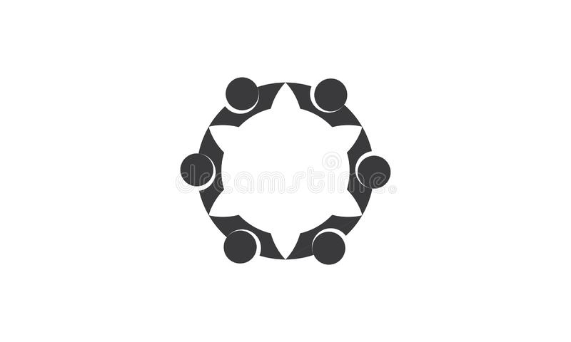 Team Work Logo - negocio circular redondeado Team United Logo de la plantilla de Team Work Union People Logo libre illustration