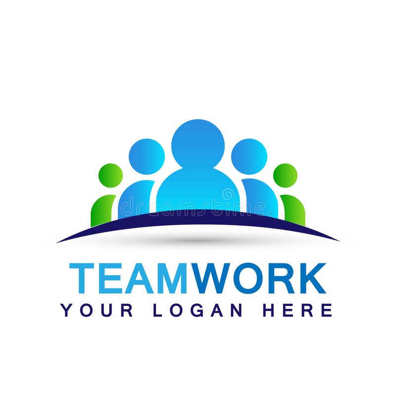 Team work logo partnership education celebration group work people symbol icon vector designs on white background. For company or any type design vector illustration