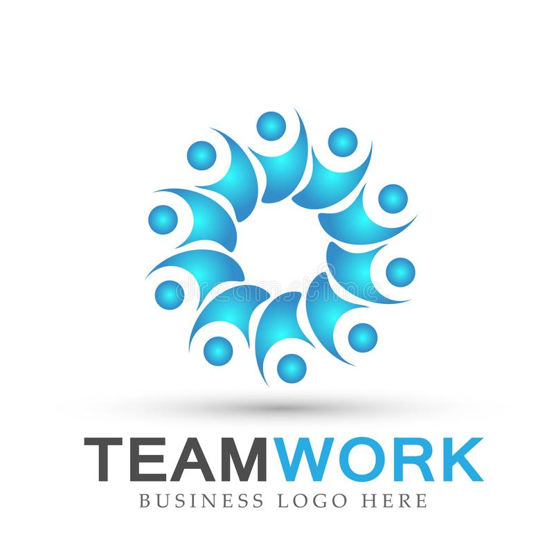Team work logo partnership education celebration group work people symbol icon vector designs on white background. Ai10 illustrations for company or any type vector illustration