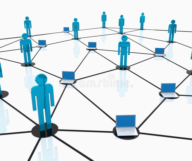 Download Team work network stock illustration. Illustration of digitally - 17363910