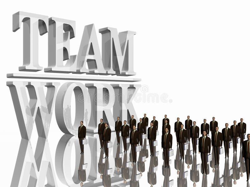 Team Work over white. vector illustration