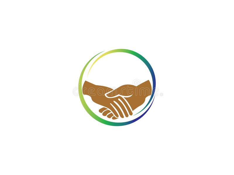 Team Work Play Logo Communautair teken Eenheidssymbool Bedrijfpersoneel Openbare organisatie Goede verhoudingscollega's royalty-vrije illustratie