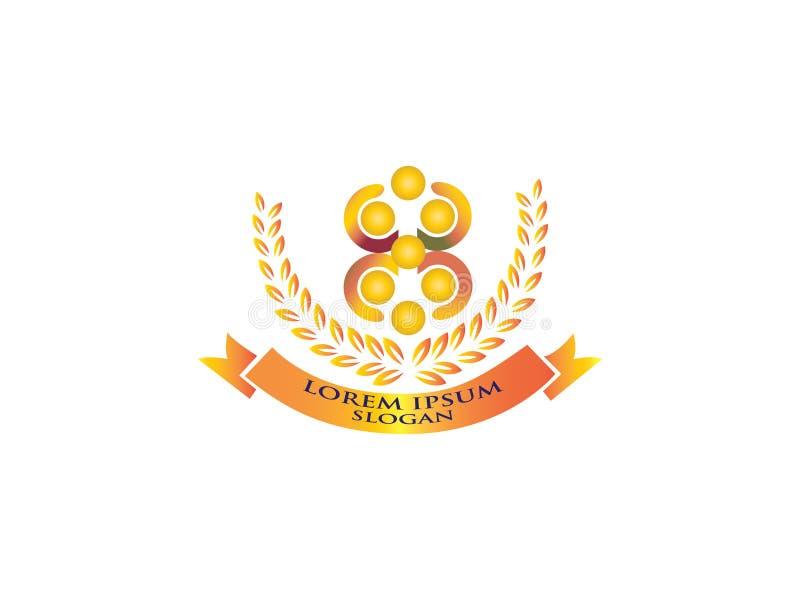 Team Work Play Logo Gemeinschaftszeichen Einheitssymbol Firmenpersonal Allgemeine Organisation Gute Verhältnis-Kollegen lizenzfreie abbildung
