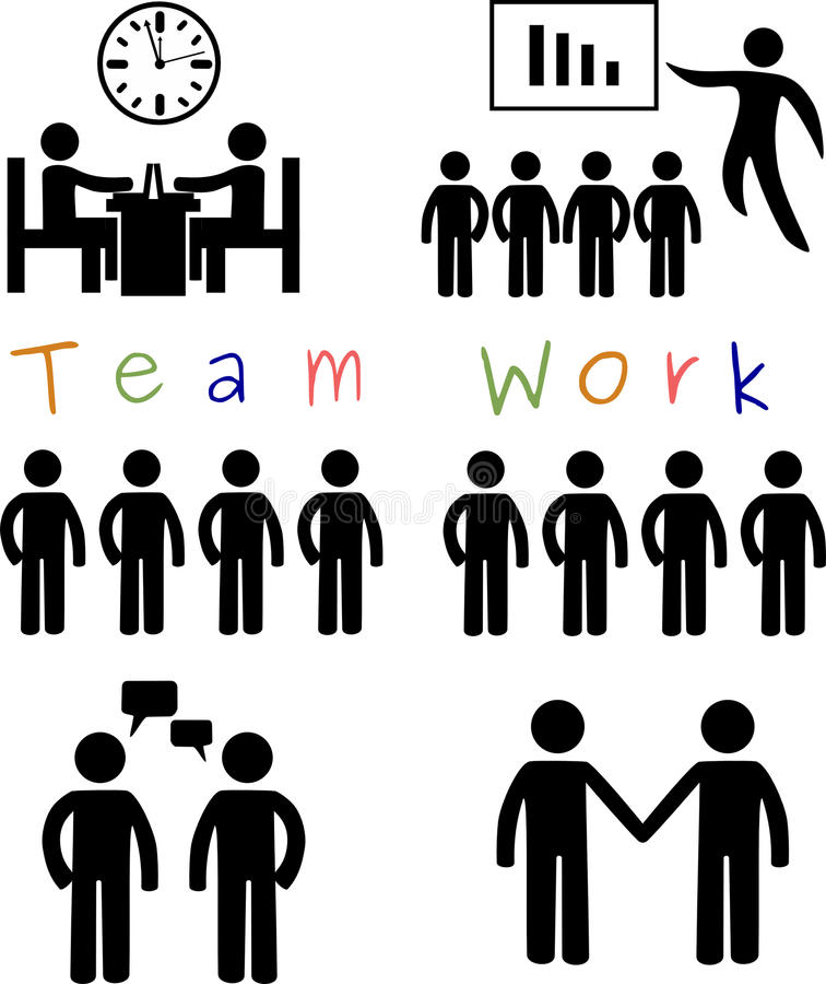 Team work vector illustration