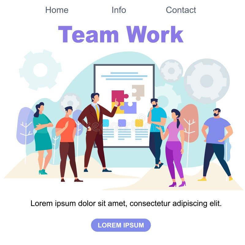 Team Work Square Banner avec l'espace de copie illustration stock